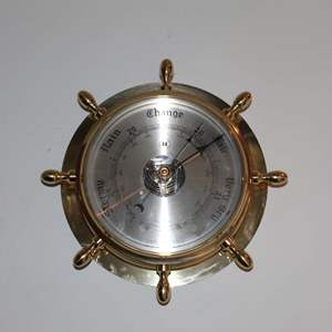 Lot #10 - German Solid Brass Wall Barometer