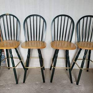 """Lot #11 - Four 29"""" Bar Height Chairs"""