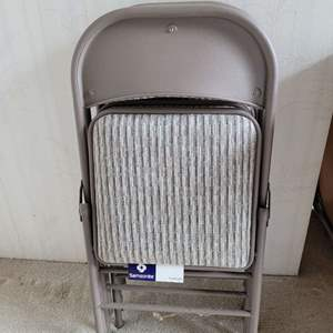 Lot #13 - Four Samsonite Padded Folding Chairs, Excellent Condition