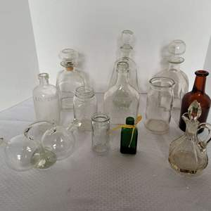 Lot #19 - Glass Decanters and Assorted Bottles
