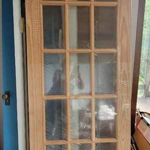 Lot #21 - New 12 Glass Pane Interior Door
