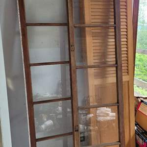 Lot #24 - Two Vintage Wood Wrapped Doors/Windows, Each Have Five Glass Panes.