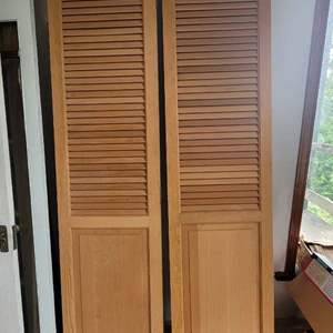 Lot #25 - Two Wood Louvered Doors