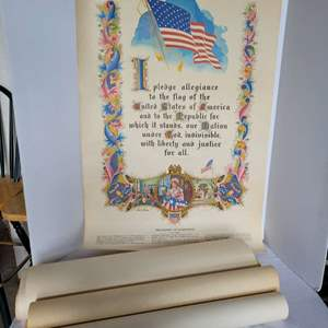 Lot #26 - Eight Vintage United States Historical Documents Posters, Each Approx. 22x36
