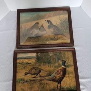 Lot #30 - Vintage Framed Quail and Pheasant Prints