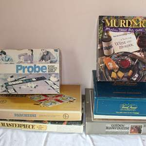 Lot #46 - Vintage Board Games: Trivial Pursuit, Ouija, Probe and More