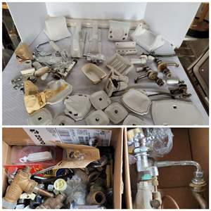 Lot #49 - Ceramic Bathroom  Accessories, Faucets and Plumbing