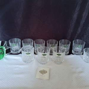 Lot #53 - Shannon Crystal Glasses from Ireland and Art Glass Fish