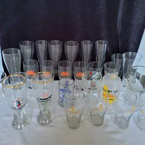 Lot #55 - Beer Glasses: Pyramid, Guinness, Red Hook and More