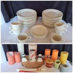 Lot #59 - Shenango and Mayer China and Assosrtment of Candles