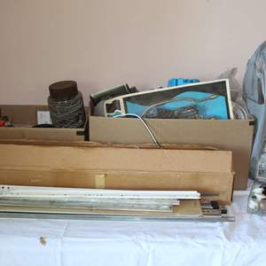 Lot #68 - Eclectic Lot: Drawer Slides, Drawer Pulls, Lamp Parts, Auto Filters and More