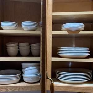 Lot #70 - Assortment of White Inter-American Porcelain Dinnerware,