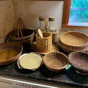 Lot #79 - Woven Display and Serving baskets and More