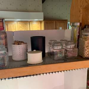 Lot #84 - An Assortment of Glass Canister Storage