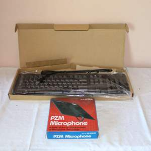 Lot #88 - PZM Microphone in Box and Unused USB Keyboard