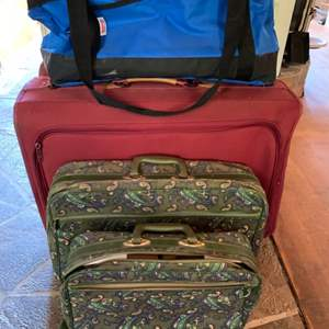 Lot #90 - Costco Tote, Vintage and Modern Luggage