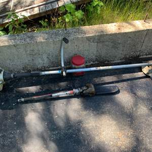Lot #95 - Vintage Weed Wacker with Chain Saw Attachment