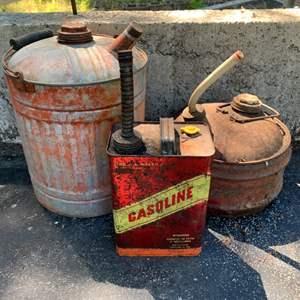 Lot #96 - Three Vintage Gasoline Cans