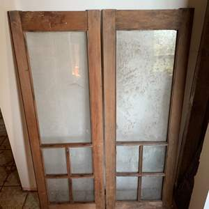 Lot #106 - Vintage Interior Doors with Glass Panes