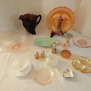 Lot #11 - An Assortment of Serving Pieces: Haviland Limoges, Lu-Ray and Hull Vase (Damaged)