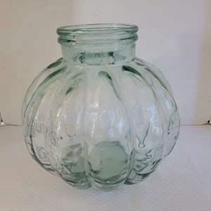 Lot #13 - Made in Spain Green Glass Container