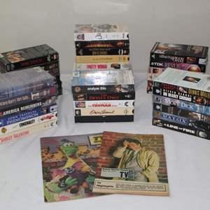 Lot #32 - Old TV Magazines, VHS Tapes: Matrix, The Truman Show, Suspect, Pretty Woman & More