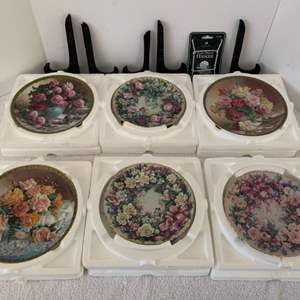 Lot #42 - Floral Signed and Numbered Collector Plates