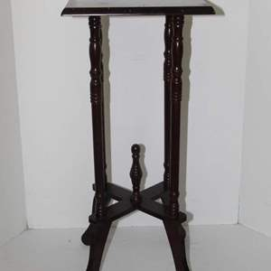 Lot #44 - Antique Wood Plant Stand Table