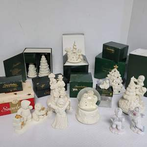 Lot #56 - Department 56 Snow Babies Figurines and Snow Globes, Mostly Christmas