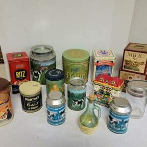 Lot #65 - An Assortment of Kitchen Advertising Tins