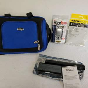Lot #66 - Wireless Portable Charger, Rechargable Li-Ion Battery Pack and Laptop Bag