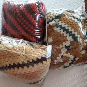 Lot # 114 - 3 Crocheted Afghan Blankets