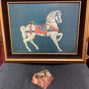 Lot # 346 - Limited Edition Offset Lithograph * Carousel Horse * Certificate of Authenticity