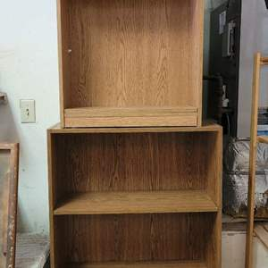 Lot #9 - Two Small Bookcases, Both Have Adjustable Shelves