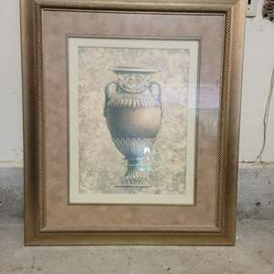 Lot #12 - Matted and Framed Classic Urn, Measures 28x34