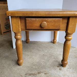 Lot #15 - Small Side Table with Drawer