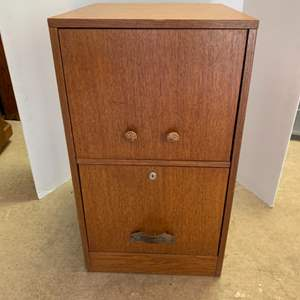 Lot #20 - Two Drawer Wood File Cabinet