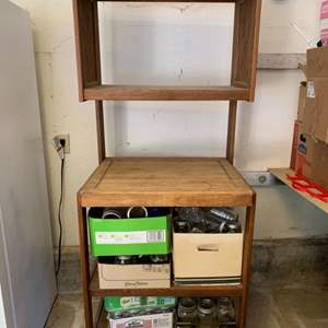 Lot #28 - Wood Unit for Storage or Microvave?