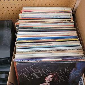 Lot #33 - About 90 Vintage Vinyl: Tom Jones, Gordon Lightfoot, Elvis, Blood Sweat & Tears, Paul Anka, Loggins & Messina and More