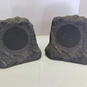 Lot #40 - Two Bluetooth Rock Outdoor Speakers Model ITSB0-513P5