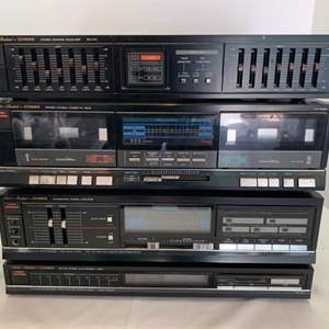 Lot #45 - Studio Standard By Fisher Stereo Graphic Equalizer, Stereo Double Cassette Deck, Integrated Stereo Amplifier, AM/FM