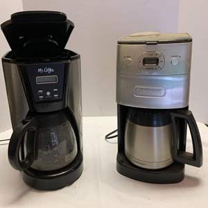Lot #57 - Coffee Makers: Mr. Coffee and Stainless Cuisinart