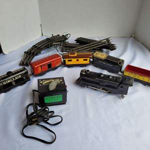 Lot #69 - Vintage Marx Train Cars, Transformer and Track