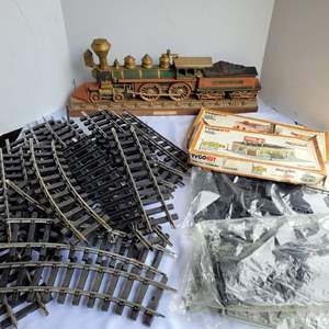 Lot #71 - Train Track, Bachman Train Cars, Scenery, Transformers, Tyco Kits and Cut-outs