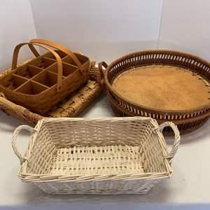 Lot #77 - Longaberger Basket, Others and Trays
