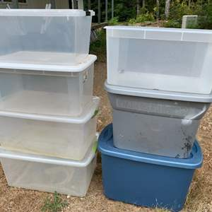 Lot #91 - Seven Storage Bins with Covers