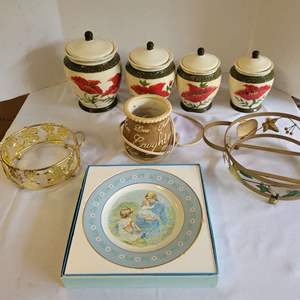 Lot #103 - Ceramic Kitchen Canister Set and More