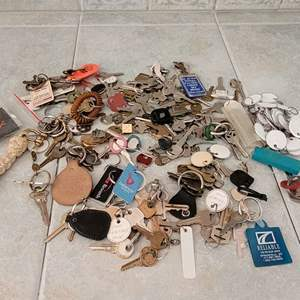 Lot #104 - Assortment of Keys: House and Car, ID Tags
