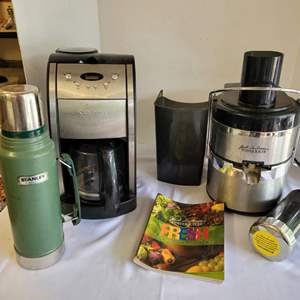 Lot #107 - Stanley 1.1 Qt Thermos, Jack Lalanne's Power Juicer & Cuisinart Coffee Maker