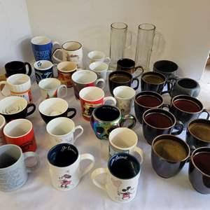 Lot #108 - Coffee Mugs: Disney Mickey & Minnie and Lots More
